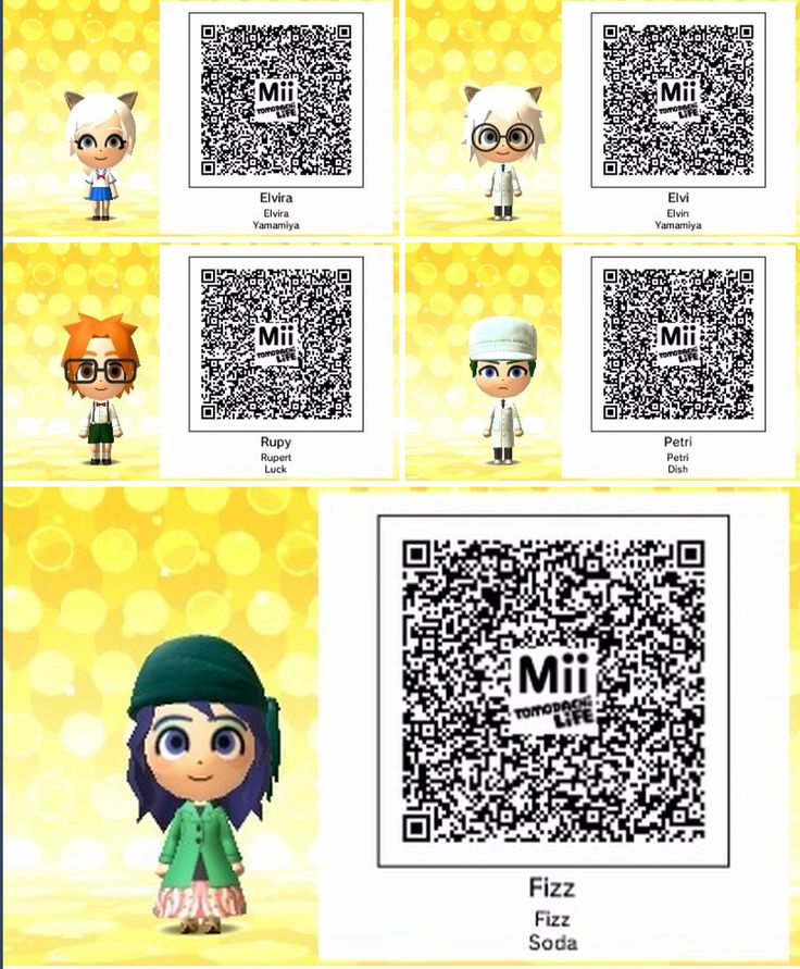 Pin by Sunray Moonbeam on Tomodachi Life & QR Codes