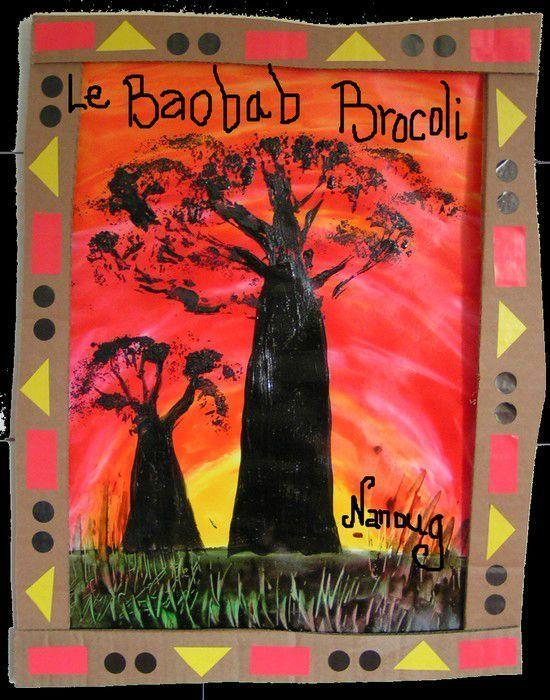 Présentation Baobab Brocoli - Visual steps for creating this baobab tree
