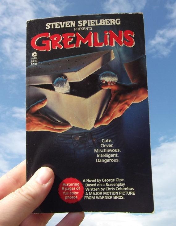 Vintage 1980 Movie Book Softcover Gremlins by blackforestrose, $5.00