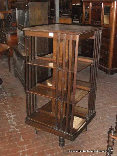 Mobili antichi - Librerie Libreria girevole - Revolving bookcase Immagine n°1