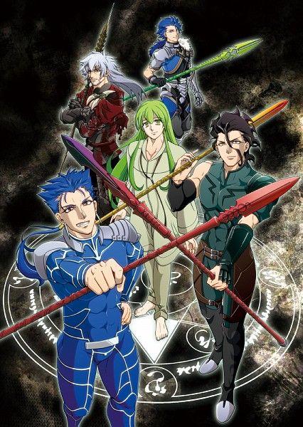 Lancers: Cu Chulainn (Fate/Prototype), Dracula (Fate/Extra), Enkidu (Fate/strange fake), Diarmuid ua Duibhne (Fate/Zero), Cu Chulainn (Fate/Stay Night)