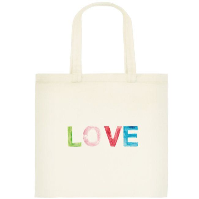 Love Tote Bag, Small Cotton Reusable Bag by OrangePeelPaperie on Etsy