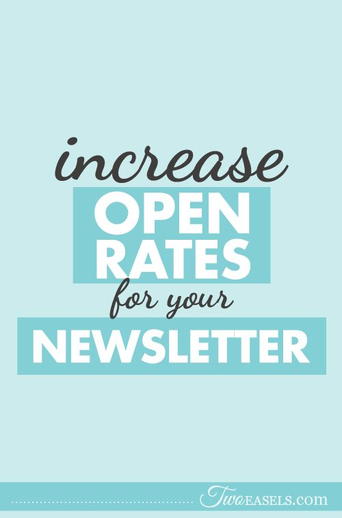 Do you send newsletters that people don't open? Find out how to INCREASE your OPEN rate NOW!