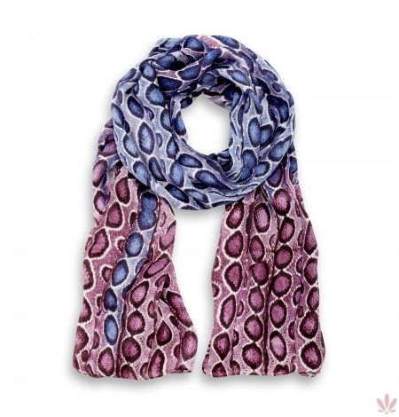 Diani Silk Charmesue Mauve & Lilla Stole. Luxury high quality made in Italy by Fulards free shipping.