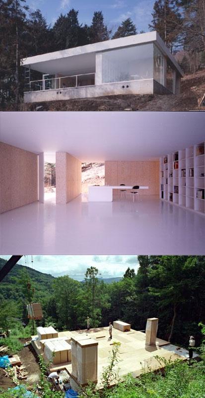 Funiture House (坂茂)    家具が家の骨組みとなっていることで  材料と手間が減って総工費は大幅に軽減。  スペースを有効利用できるので日本の家にぴったり。  しかも美しくかっこ良い。