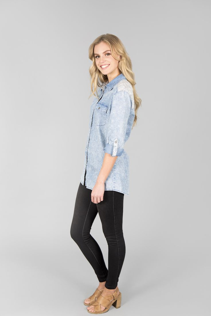 On #sale Only for $35. Ice Express Chambray Shirt