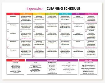 NEW Printable Monthly Cleaning Checklist by GraceByFaith on Etsy