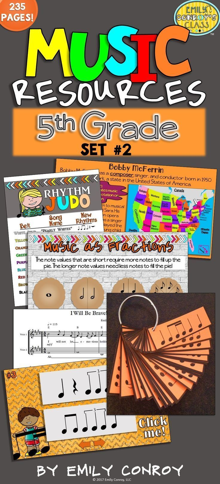 Struggling to find music activities for your 5th grade students or kids? This set contains 235 pages of worksheets, PowerPoints, songs, and games for 5th Grade music students! The songs even come with piano accompaniment and MP3 sound files!