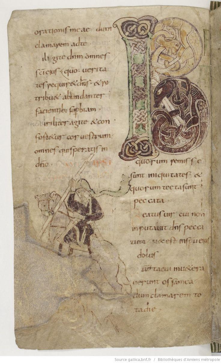 Amiens Bibliothèque municipale Ms. 18, Psautier, avec cantiques et litanies, fol. 26v