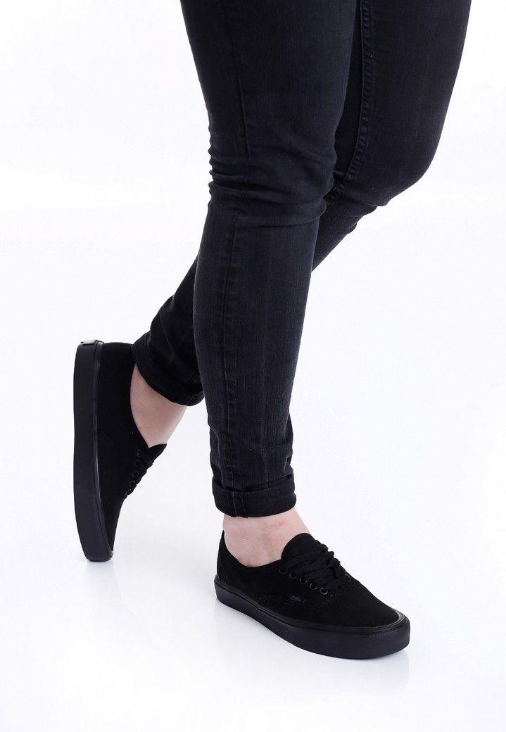 Vans - Authentic Lite Canvas Black/Black - Girl Shoes | Girls ...