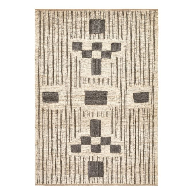 yenta hand woven jute rug natural