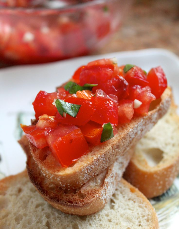 Bruschetta...I'll even tell you how to pronounce it!