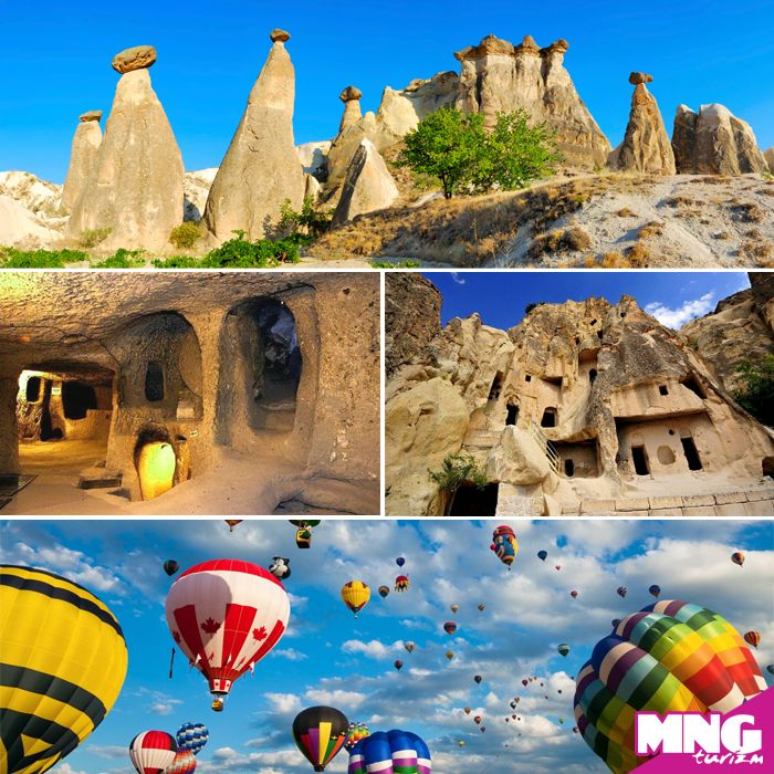 Peri bacaları, vadileri, yeraltı şehirleri, güzel atları ile Kapadokya Turları MNGTurizm.com'da… #mngturizm #tatiliste #kültürturları #kapadokya #holiday #travel