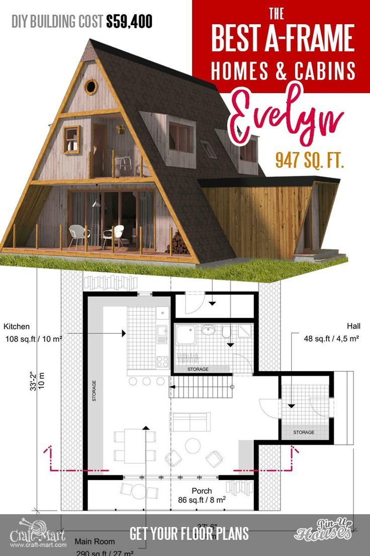 Cool A Frame Tiny House Plans Plus Tiny Cabins And Sheds Craft Mart In 2020 A Frame House A Frame House Plans Cabin House Plans