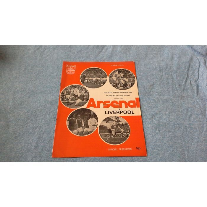 FOOTBALL PROGRAMME - ARSENAL V LIVERPOOL SATURDAY 16th SEPTEMBER Listing in the First Division Fixtures,1970-1979,League Fixtures,English Leagues,Football (Soccer),Sports Programmes,Sport Memorabilia & Cards Category on eBid United Kingdom | 150167305