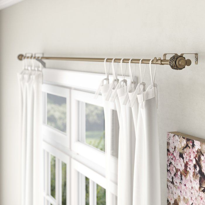 Lamarre Double Curtain Rod And Hardware Set Pons In 2019 Double Rod Curtains Double Curtains Curtain Rods