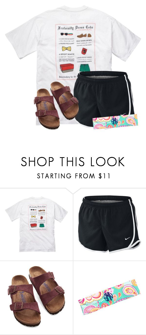 Only one more day before FRIDAY!!!! by flroasburn ❤ liked on Polyvore featuring Southern Proper, NIKE and Birkenstock