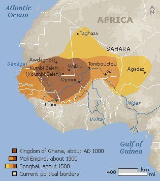ghana empire | Thread: ghana empire map