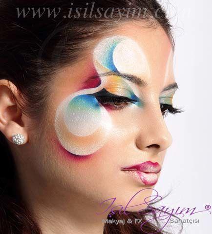 Creative and artistic fantasy makeup www.isilsayim.com Artistik fantastik makyaj uygulamalarimdan