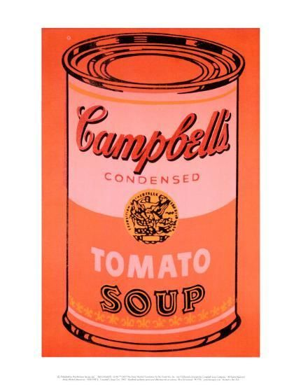 Campbell S Soup Can C 1965 Orange Art Print Andy Warhol Art Com Campbell S Soup Cans Campbell Soup Andy Warhol