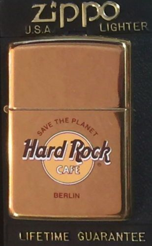 Hard Rock Cafe Berlin Brass ZIPPO