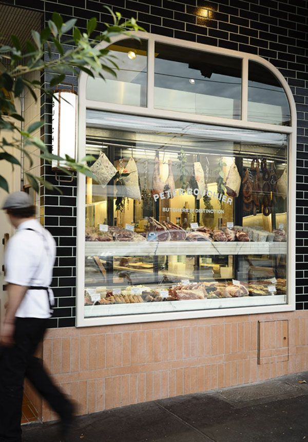 Tidy, professional, intensely welcoming. Peter Bouchier Butchers, designed by Fiona Lynch Studio. Photo - Derek Swalwell.