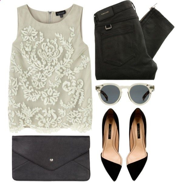 A fashion look from January 2013 featuring Topshop tops, Belstaff jeans and Zara pumps. Browse and shop related looks.
