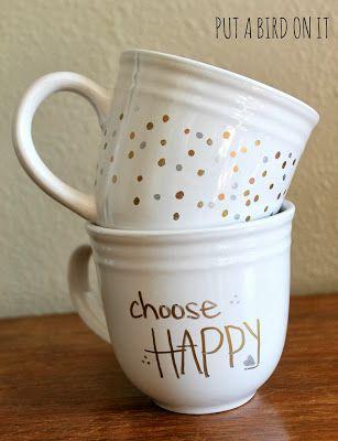 West Elm Inspired Sharpie Mugs #DIY #homedecor