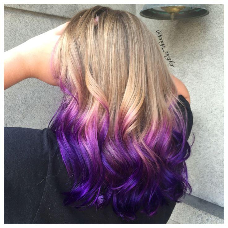 Purple Ombre Melt On Blonde Hair By Amy Ziegler Askforamy Joico