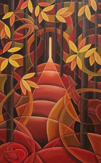 Pathway - Huile sur toile, 30x48 pouces - VENDU