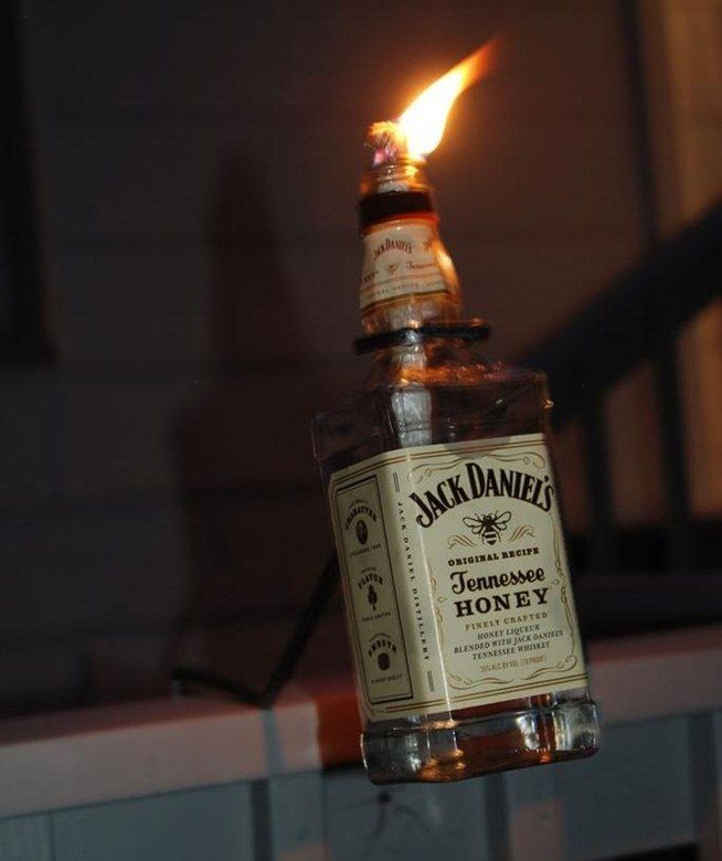 How to Make a Tiki Torch from a Bottle of Jack Daniels « MacGyverisms