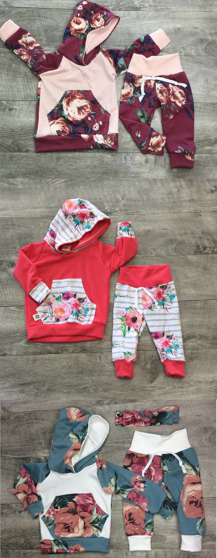 I love these adorable little girl sweatsuits!! I already ordered one for my niece!! #affiliatelink #fashion #baby #babygirl #kidsfashion