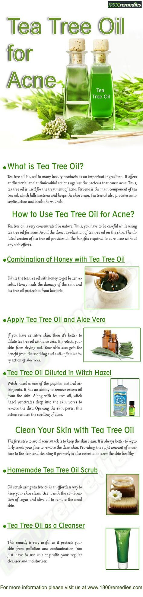 Tea Tree Oil for Acne #TeaTree #EssentialOil Pinned for you by https://organicaromas.com
