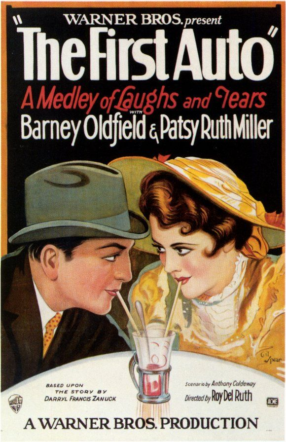 Barney Oldfield & Patsy Ruth Miller - The First Auto....1927