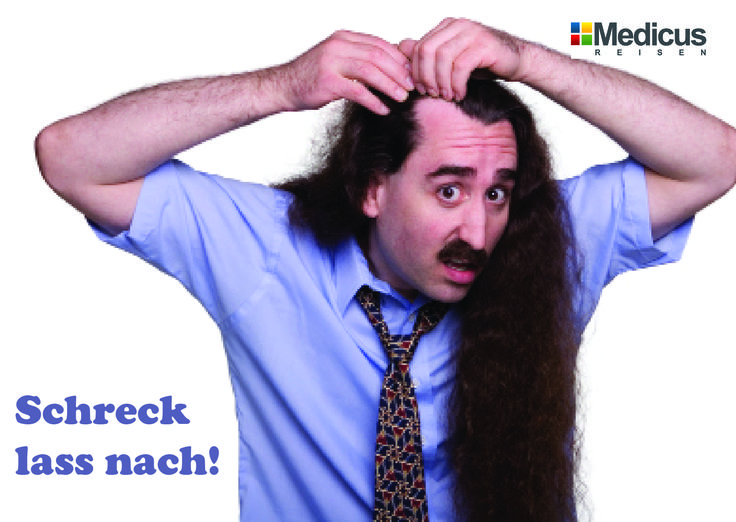 Geheimratsecken und Glatze - eine Haartransplantation schafft Abhilfe.