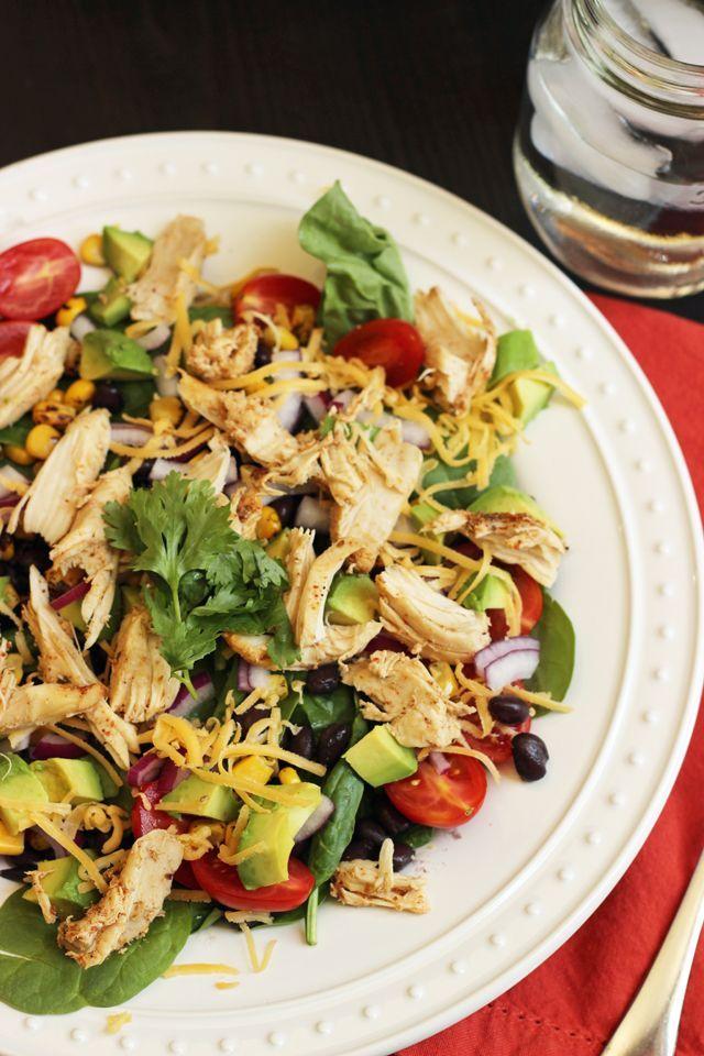 Santa Fe Salad with Chicken, Corn, and Black Beans | Good Cheap Eats