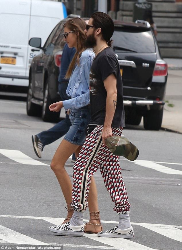 Arm in arm: The two spent time together having brunch in Manhattan before the Dallas Buyers Club Oscar winner headed to the airport to catch a flight out of town