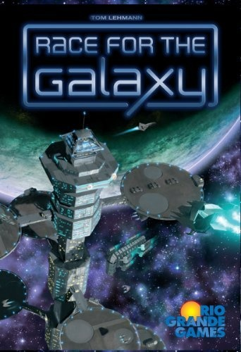 I've only played this once but it was a cool game. Race For The Galaxy by Rio Grande Games, http://www.amazon.com/dp/B000YLAOEW/ref=cm_sw_r_pi_dp_NSeZpb0098A4K