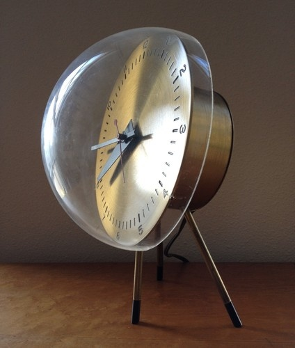 High Quality Original George Nelson Tripod Bubble Table Clock Manufactured By Howard  Miller