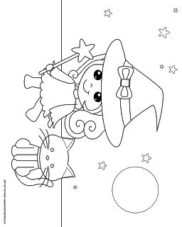 Don't Eat the Paste: Witch box and coloring page
