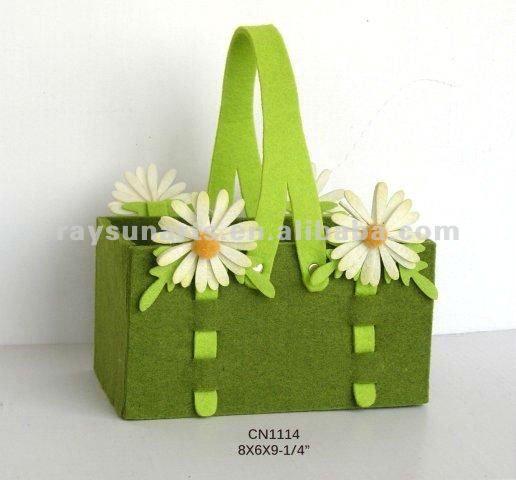 primavera feltro tema cestino del fiore-Storage basket-Id prodotto:609860934-italian.alibaba.com