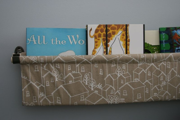 This is a great idea for book storage too!