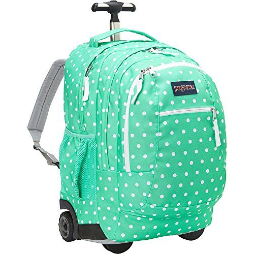 JanSport Driver 8 Rolling Backpack- Discontinued Colors (Seafoam Green / White