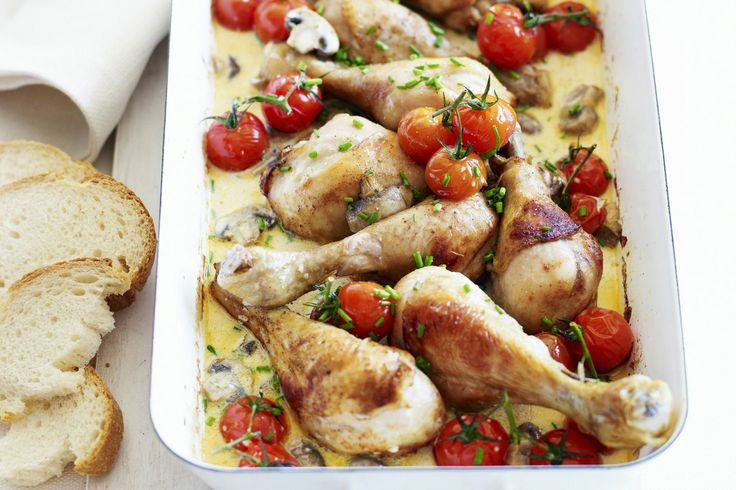 Impress the family with this tasty tray-baked chicken stroganoff.