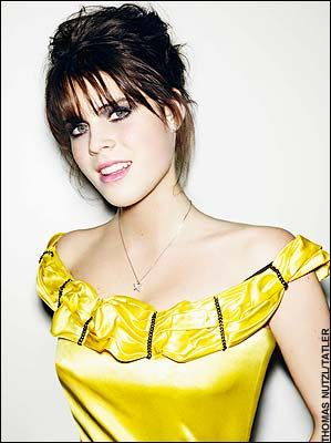 Glamour shot of Princess Eugenie. Both the girls are pretty- they just don't usually dress well.