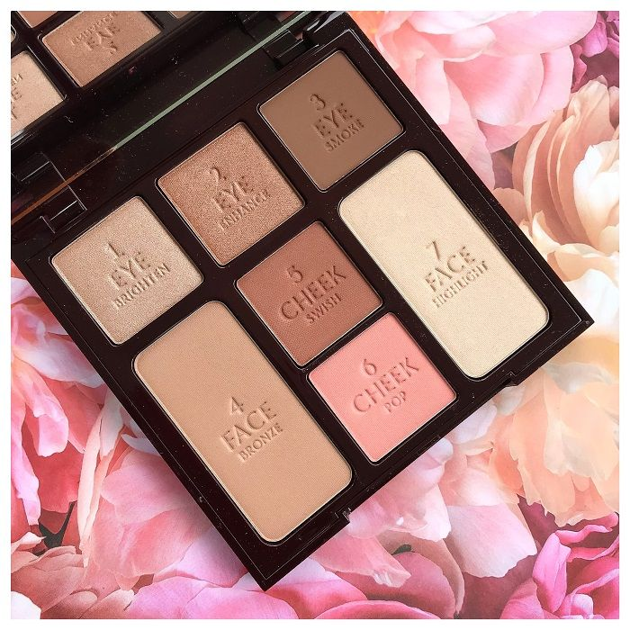 Charlotte Tilbury Instant Look In A Palette Beauty Glow Review Swatches Charlotte Tilbury Beauty Shimmer Eyeshadow Palette