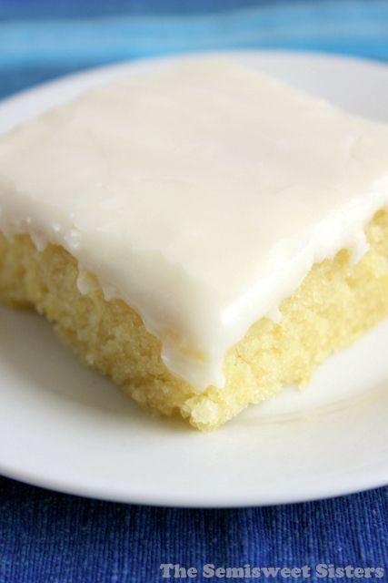 White Texas Sheet Cake - Super moist! Easy to make!