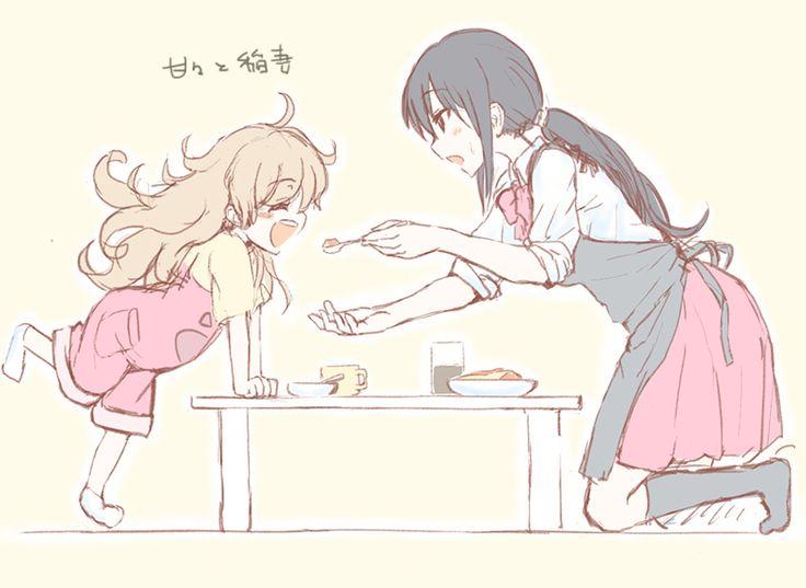 amaama to inazuma iida kotori inuzuka tsumugi umeboshi jin  sc 1 st  Pinterest & 43 best Amaama to Inazuma images on Pinterest | Lightning Manga ... azcodes.com
