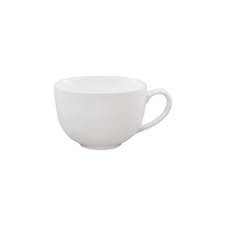 Sized to hold a generous serving of your favorite hot drink this Cappuccino Mug from Threshold has graceful curves and long-lasting quality. Made with simple lines and a bright white glazed finish to mix-and-match with any tableware pattern as well as other white pieces, this no-fuss mug is easy to use and clean. Dishwasher and microwave safe.