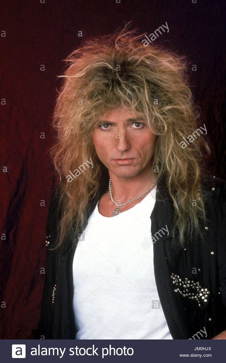 David Coverdale of Whitesnake photographed in March, 1987 ...